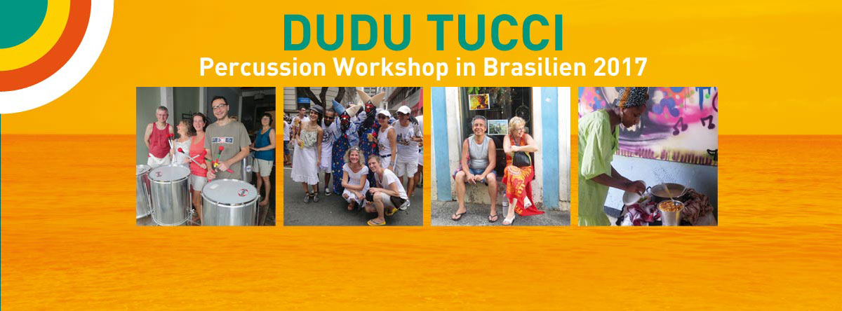 Dudu Tucci Percussion workshop Brazil